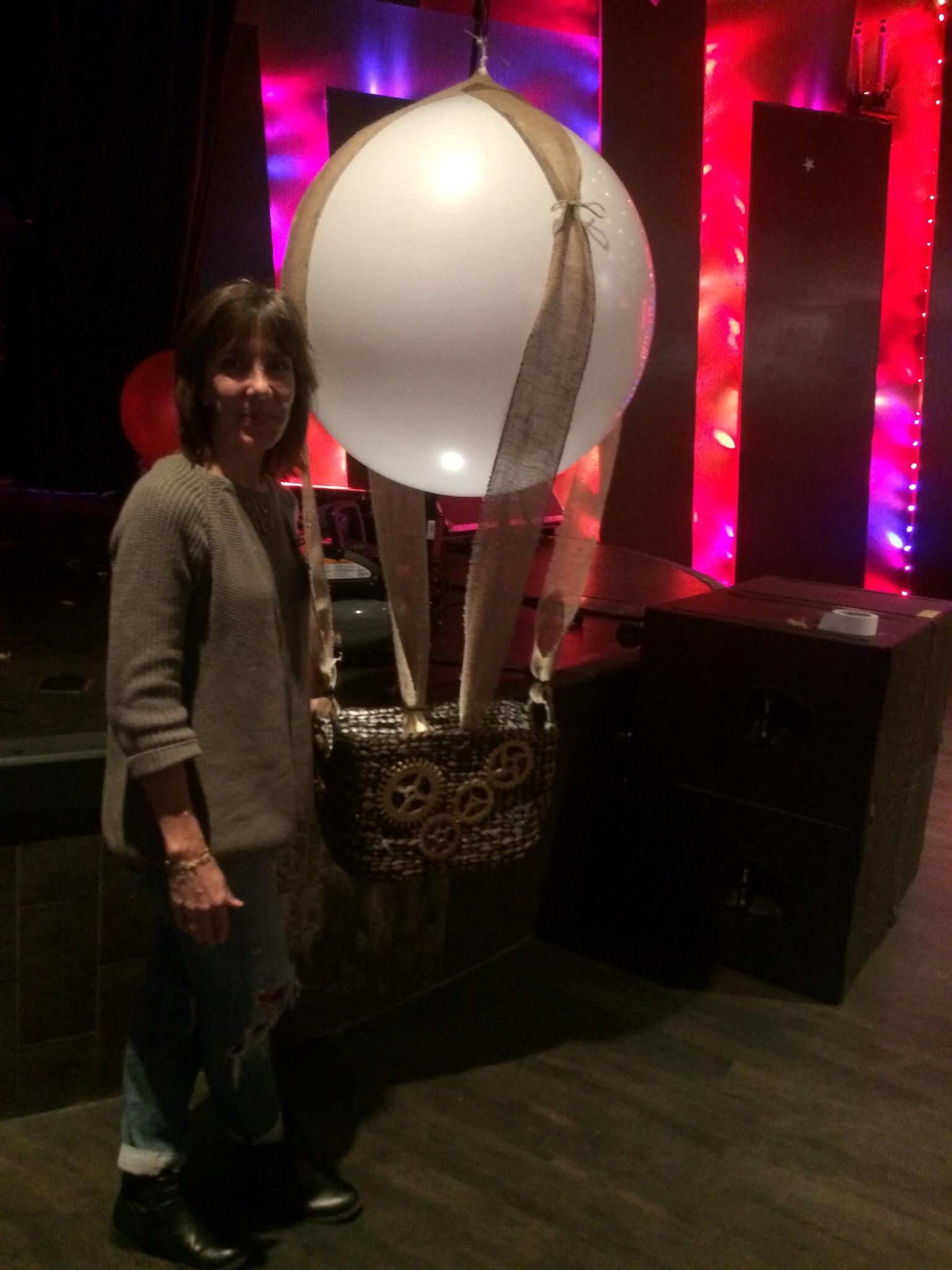 This is a 3' mini hot air ballon.