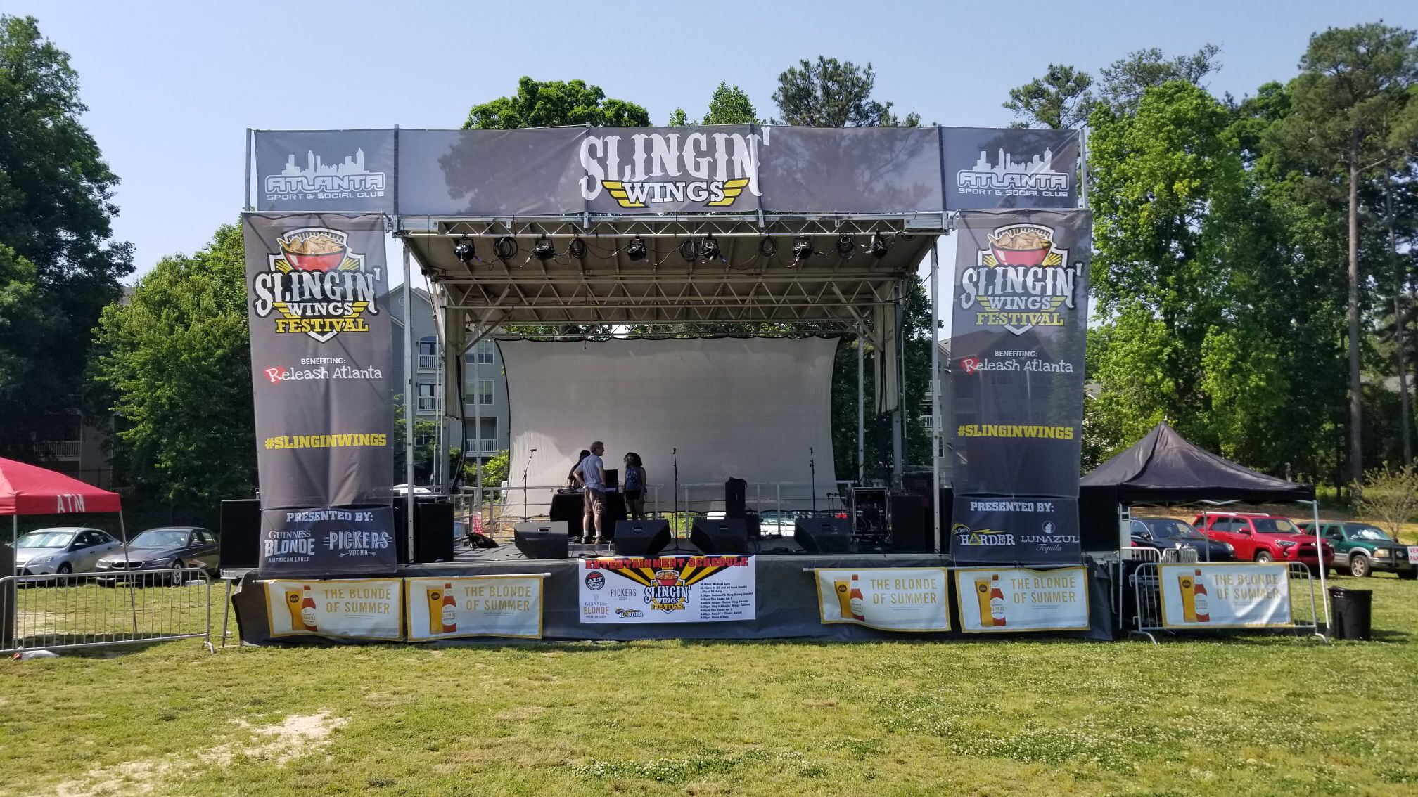 Wing Fling SL100 Mobile Stage in Chamblee GA – Forestay