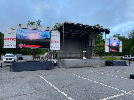 More drive in Concerts using portable stages and pop up video screens.
