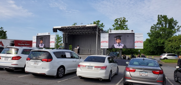 A drive in graduation on an SL100 stage by stage line