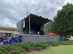 SL100 Mobile stage for the Show Business. This is in Griffin GA for a 4th of July mobile stage job that they do every year. We love working with these guys every year.