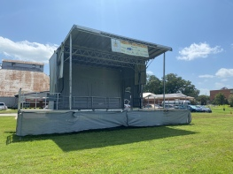 A beautiful set up of a mobile stage